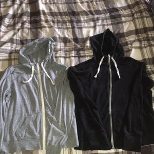 Athletic high zip workout lounge hoodies